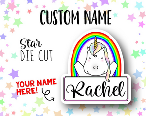 Custom Name Star DIE CUT
