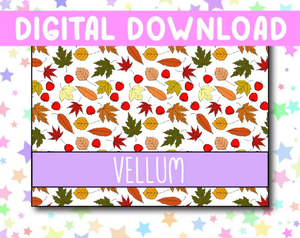 Vellum Patterned Paper Digital Download - Autumn Theme