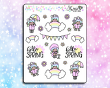 Luna Hello Spring Stickers