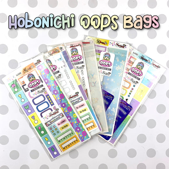 Oops Bag - Hobonichi Weekly Grab Bag - Misfit Grab Bag Stickers