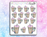Luna Iced Coffee & Donut Stickers
