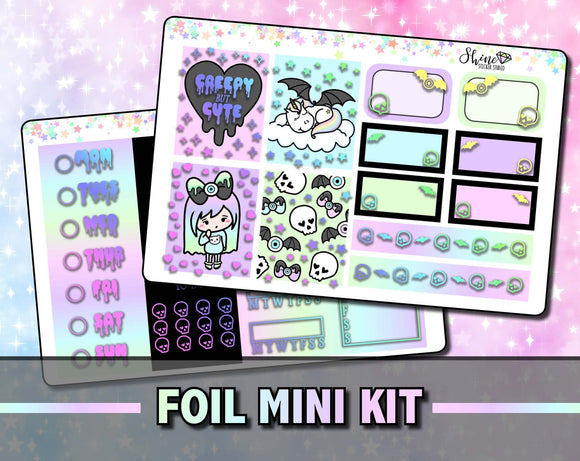 FOIL Luna Pastel Goth - Mini Sticker Kit - Print Pression Weeks