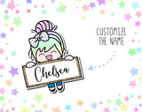 Custom Name Luna Die Cut