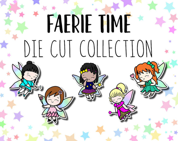 Faerie Time Girls DIE CUTS