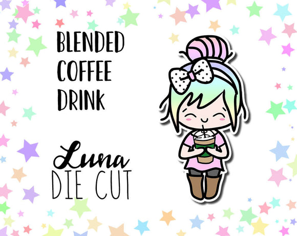 Blended Coffee Drink Luna Die Cut