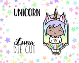 Unicorn Luna DIE CUT