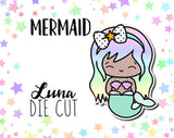 Mermaid Luna DIE CUT