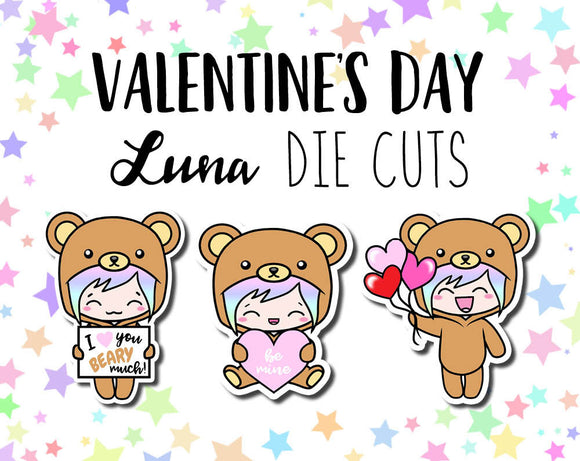 Valentine's Day Luna DIE CUTS