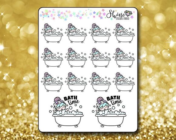 Luna Bath Time Stickers