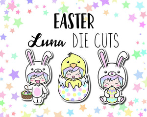 Easter Luna DIE CUTS