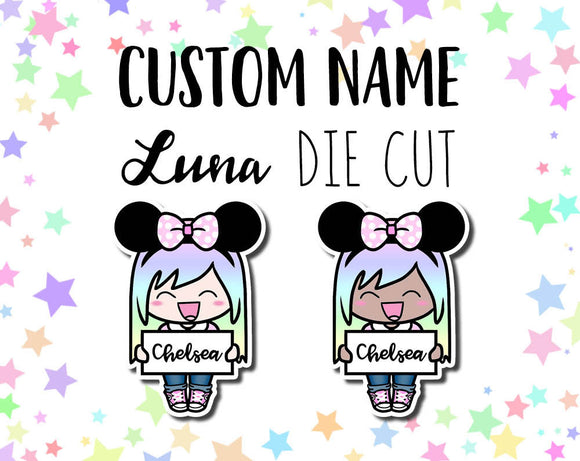 Mouse Ears Custom Luna DIE CUT