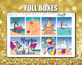 Star the Unicorn Goes to the Beach Weekly Sticker Kit