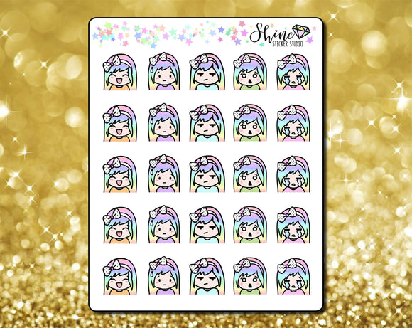 Luna Expressions Stickers