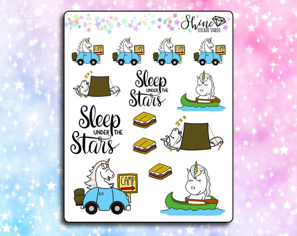Star Goes Camping Stickers