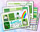 Star the Unicorn St Patricks Day - Weekly Sticker Kit