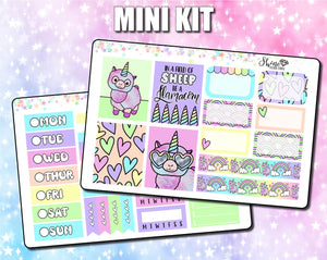 Cute Llamacorn - Mini Sticker Kit - Print Pressions