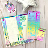 FOIL Cute Llamacorn - Hobonichi Weeks Sticker Kit