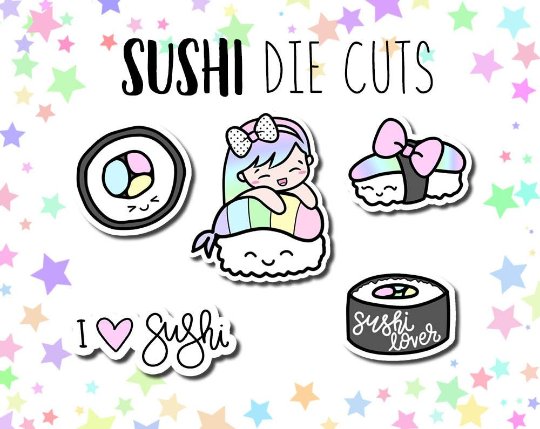 Sushi Rainbow Roll Luna DIE CUTS