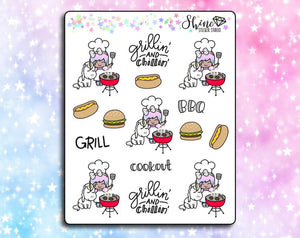 Luna Grill Cookout Stickers