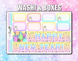Star the Unicorn New Year 2020 Weekly Sticker Kit
