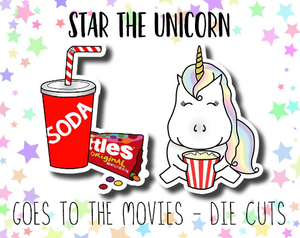 Star the Unicorn go to the Movies DIE CUT