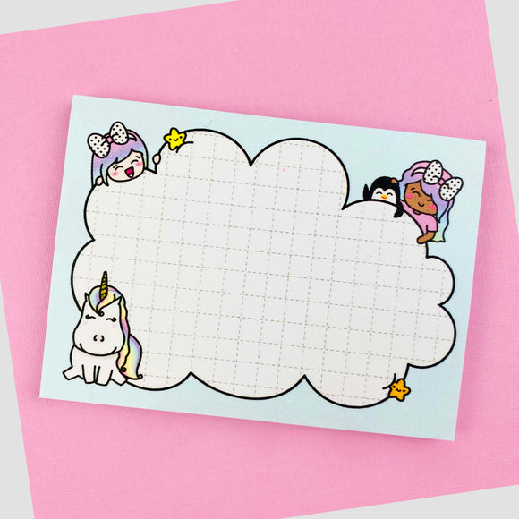 Shine Crew Cloud Post-It Sticky Notepad