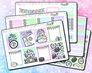 Luna Sushi Rainbow Roll Weekly Sticker Kit