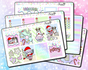 Luna & Star's Christmas Sweet Shop Weekly Sticker Kit