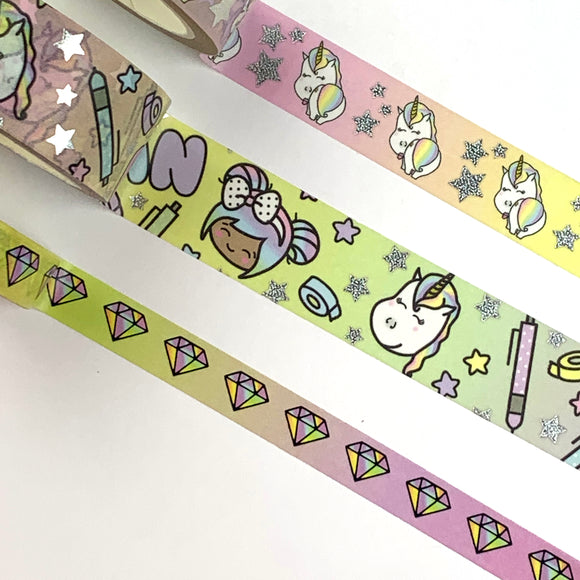 Luna & Star Diamond Foiled Washi Tape Bundle