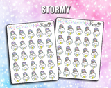 INDIVIDUAL Weather Luna Stickers