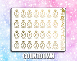 FOILED Wedding Deco Stickers and Countdown