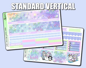 Undated Whimsical Winter Monthly Kit - Standard Vertical