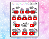 Luna YouTube - Planner Stickers