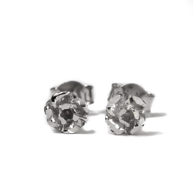 Metal Rose Earring