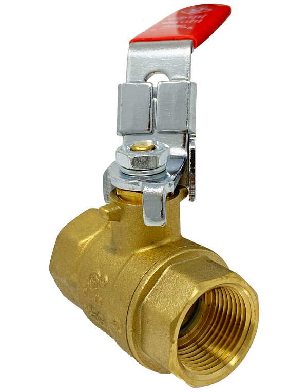 100TL 600 WOG FULL PORT FORGED BRASS BALL VALVE THREADED ENDS LOCKING HANDLE