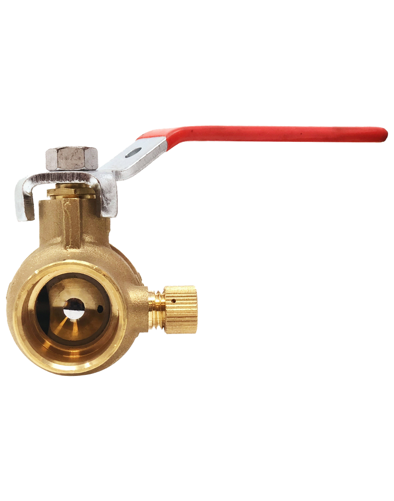 NL-110C LEAD FREE 600 WOG FULL PORT BRASS BALL VALVE SOLDER JOINT ENDS W/DRAIN