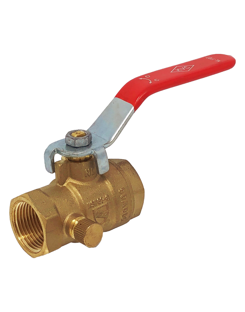 NL-110T LEAD FREE 600 WOG FULL PORT BRASS BALL VALVE THREADED ENDS W/DRAIN