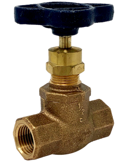 112T Class 125 Bronze Globe Valve Threaded Ends Screw-in Bonnet Integral Seat