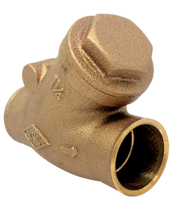 122C CLASS 125 BRONZE SWING CHECK VALVE Y PATTERN SOLDER JOINT ENDS