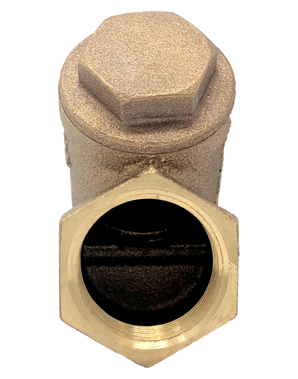 122T CLASS 125 BRONZE SWING CHECK VALVE Y PATTERN NPT ENDS