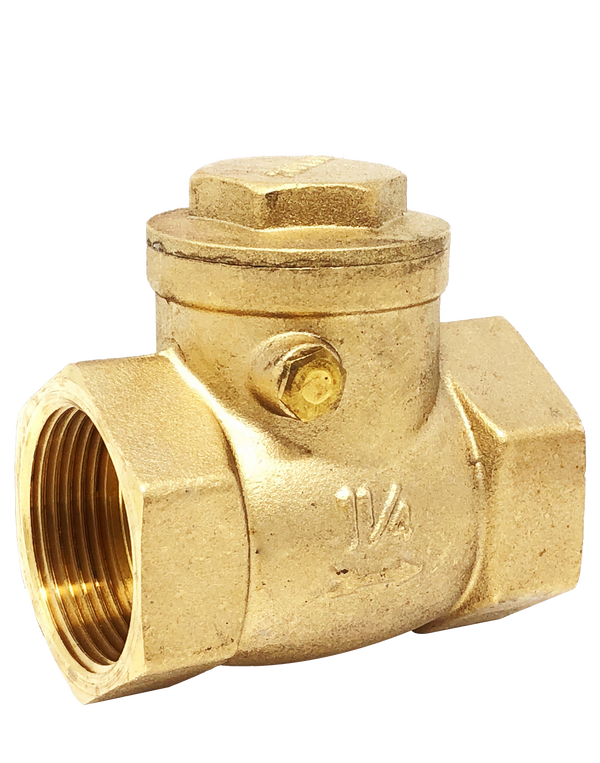 150T 200 WOG BRASS SWING CHECK VALVE T-PATTERN NPT END