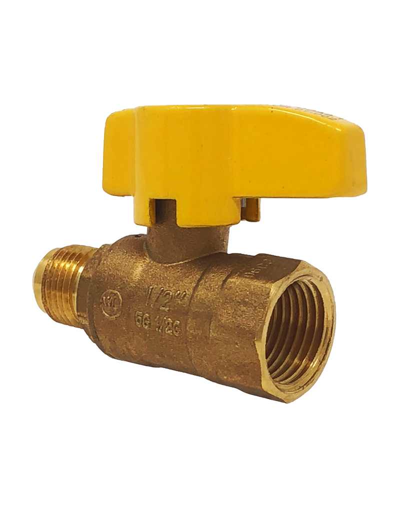 247 BRASS RP GAS BALL VALVE FLARE x FEMALE NPT