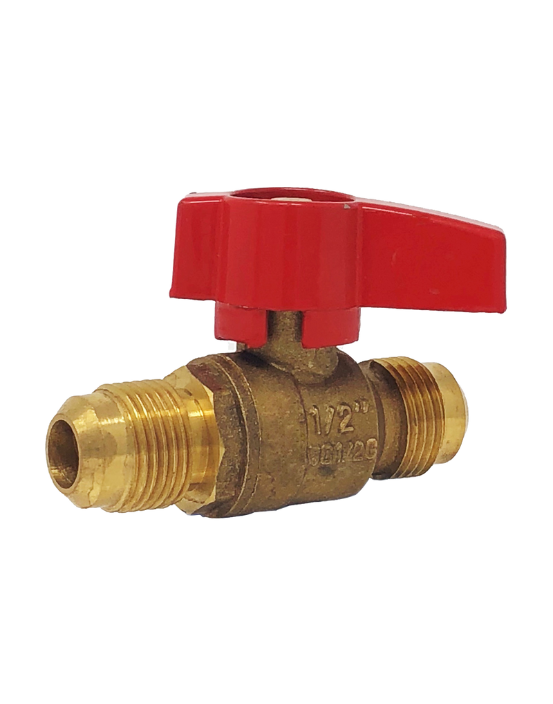 248 BRASS RP GAS BALL VALVE FLARE x FLARE