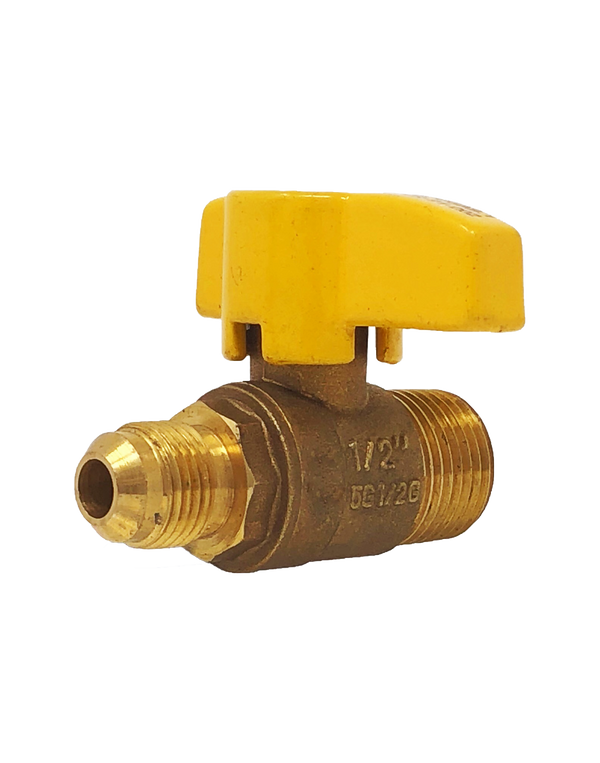 249 BRASS RP GAS BALL VALVE FLARE x MALE NPT