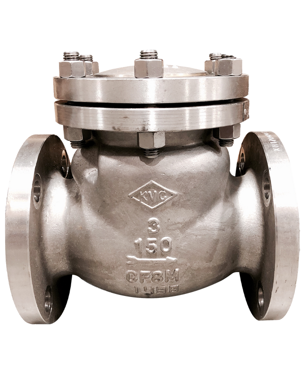 278-CS-150 CAST STEEL SWING CHECK VALVE CLASS 150 FLANGED ENDS BOLTED COVER WCB BODY & BONNET 13Cr/HF TRIM