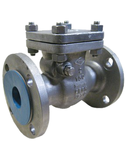 278-SS-150 CLASS 150 STAINLESS STEEL SWING CHECK VALVE FLANGED ENDS BOLTED COVER 316 SS BODY AND BONNET