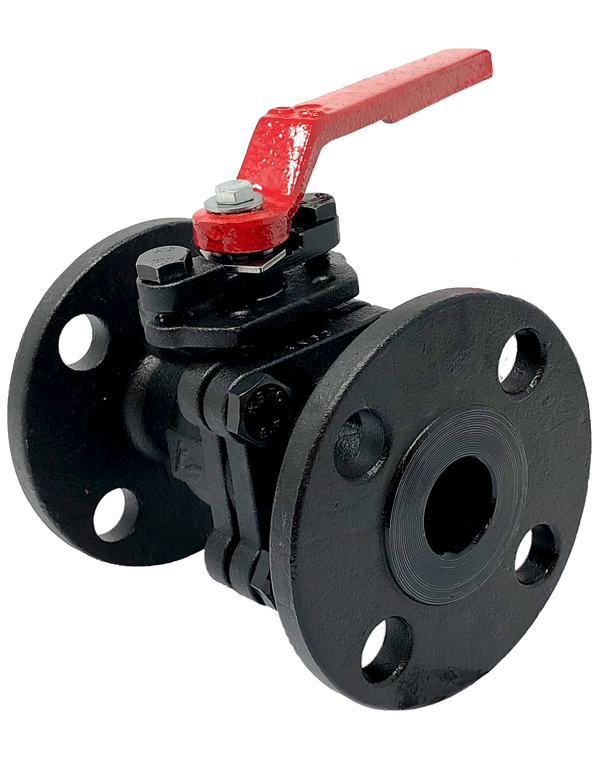 C-235F-F CLASS 150 2-PIECE CARBON STEEL FULL PORT BALL VALVE FLANGED ISO 5211 MOUNTING PAD API 607 Fire-Safe Designed