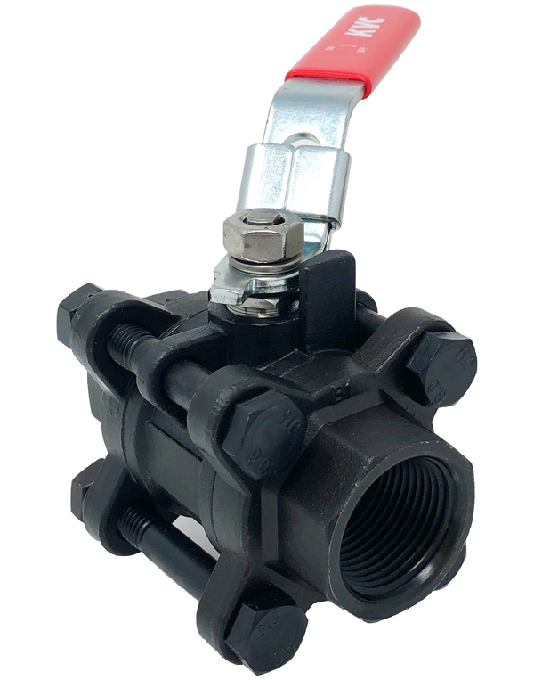 C-301T 1000 WOG 3-PIECE BALL VALVE FULL PORT THREADED ENDS