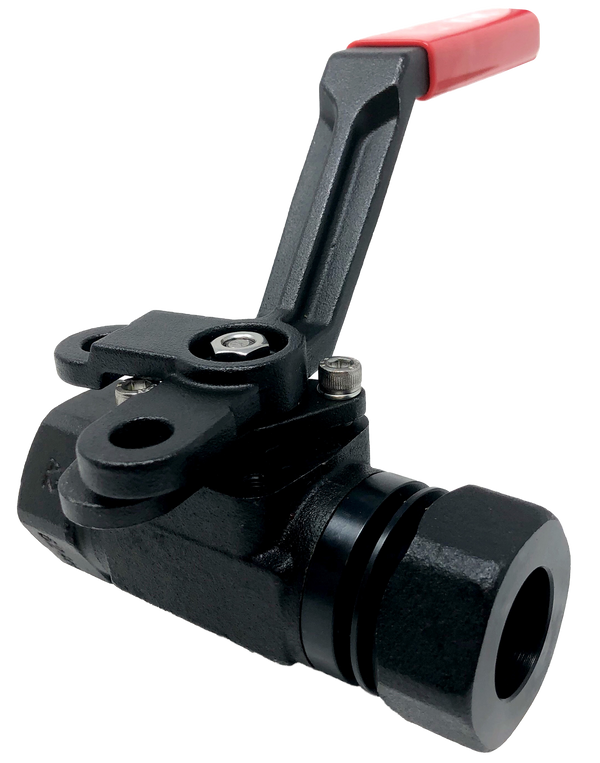 "C-336SS 3-PIECE FORGED STEEL BALL VALVE 6000 WOG CLASS 2500 EXTENDED SOCKET WELD X SOCKET WELD ENDS 1/4"" TO 1 1/2"": FULL PORT, 2"": STANDARD PORT ISO 5211 MOUNTING PAD NACE MR-01-75"