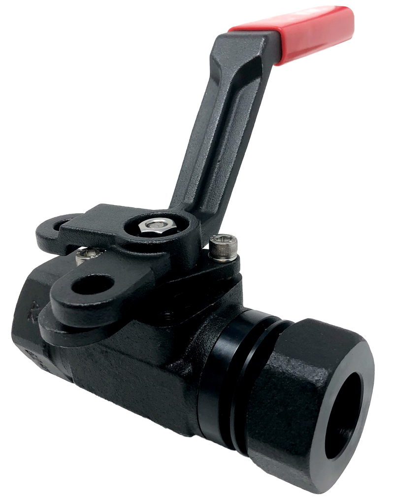 C-333SS 3-PIECE FORGED STEEL BALL VALVE 3000 WOG CLASS 1500 EXTENDED SOCKET WELD X SOCKET WELD ENDS ISO 5211 MOUNTING PAD